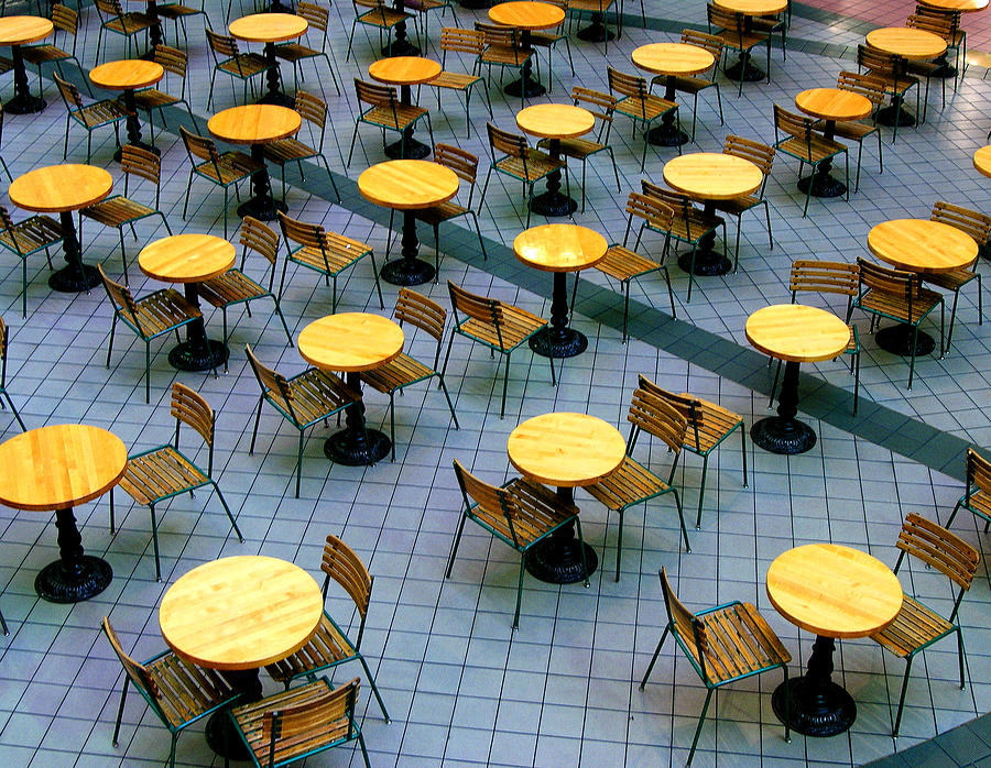 Table Photograph - Tables And Chairs II by Steven Ainsworth