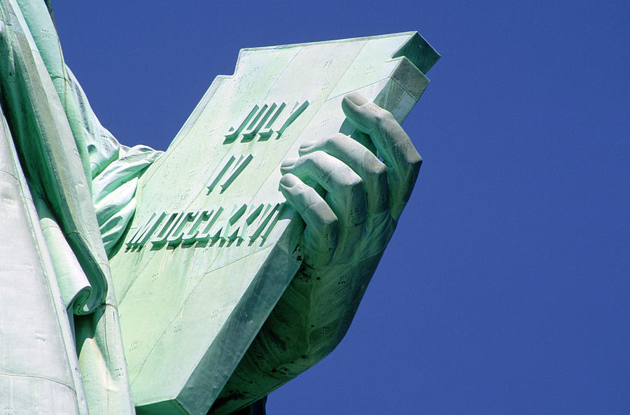 Tablet Of Liberty Photograph By Ron Watts