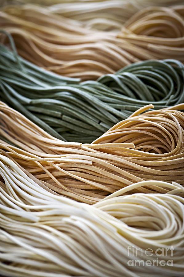 Tagliolini Photograph - Tagliolini Pasta by Elena Elisseeva
