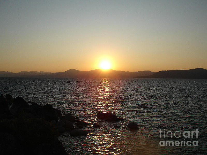 Sunset Photograph - Tahoe Sunset by Silvie Kendall