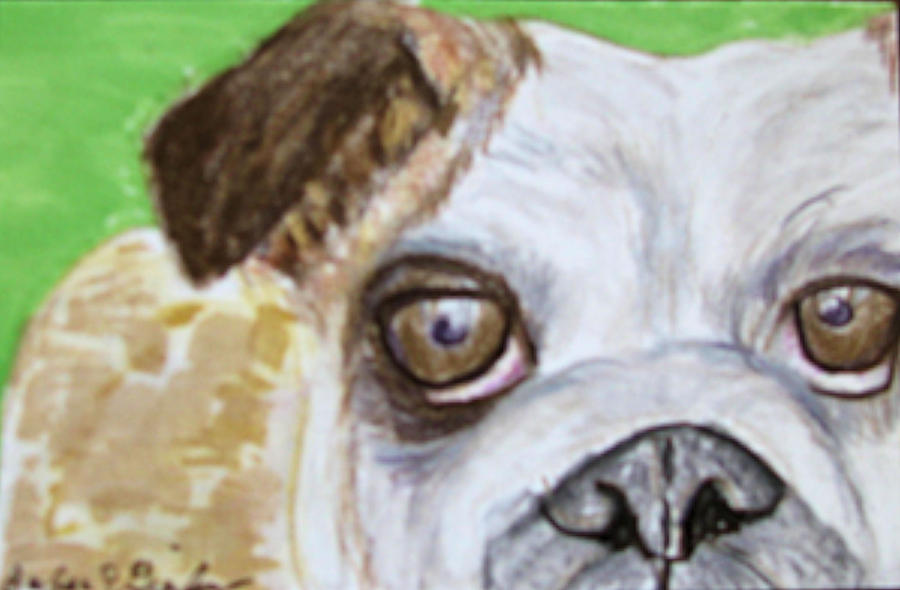 Take Me Home - Bulldog Drawing  - Take Me Home - Bulldog Fine Art Print
