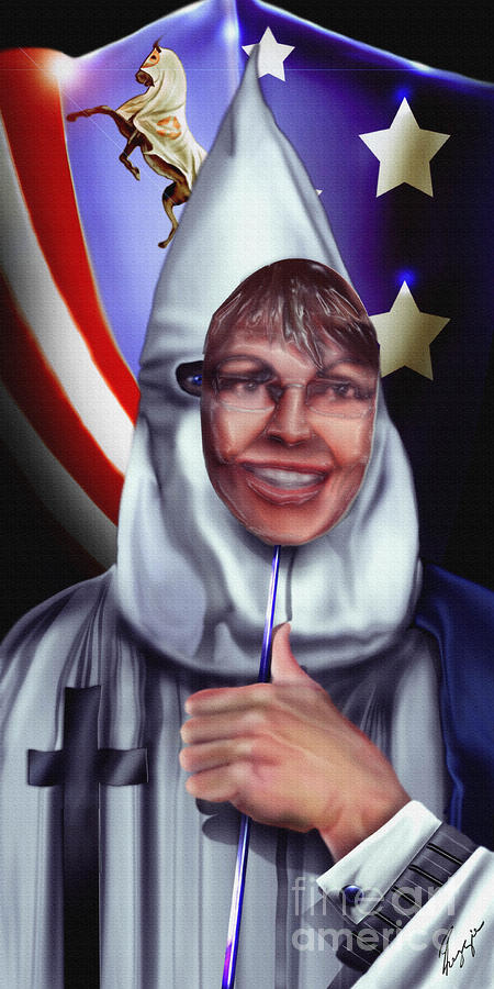 Taking America Back - Behind The Masquerade Tea Party  Painting
