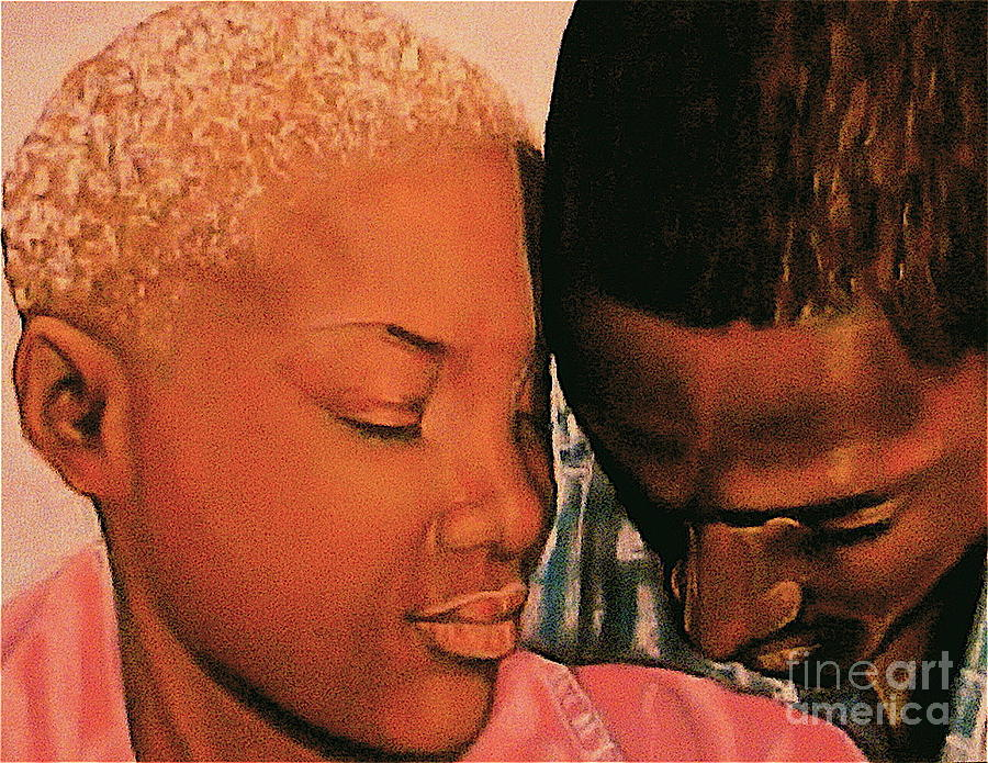Talk To Me Baby II Pastel  - Talk To Me Baby II Fine Art Print