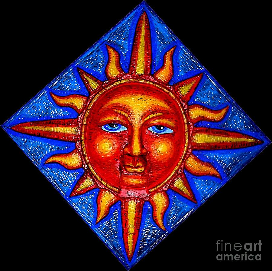 Talking Sun Painting  - Talking Sun Fine Art Print