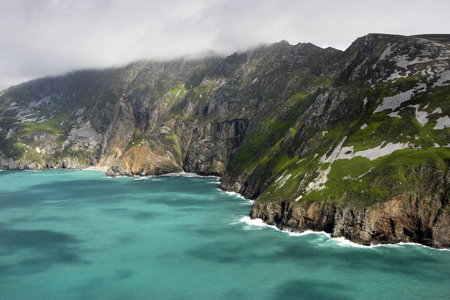Tall Sea Cliffs Of Slieve League Donegal Ireland Photograph  - Tall Sea Cliffs Of Slieve League Donegal Ireland Fine Art Print
