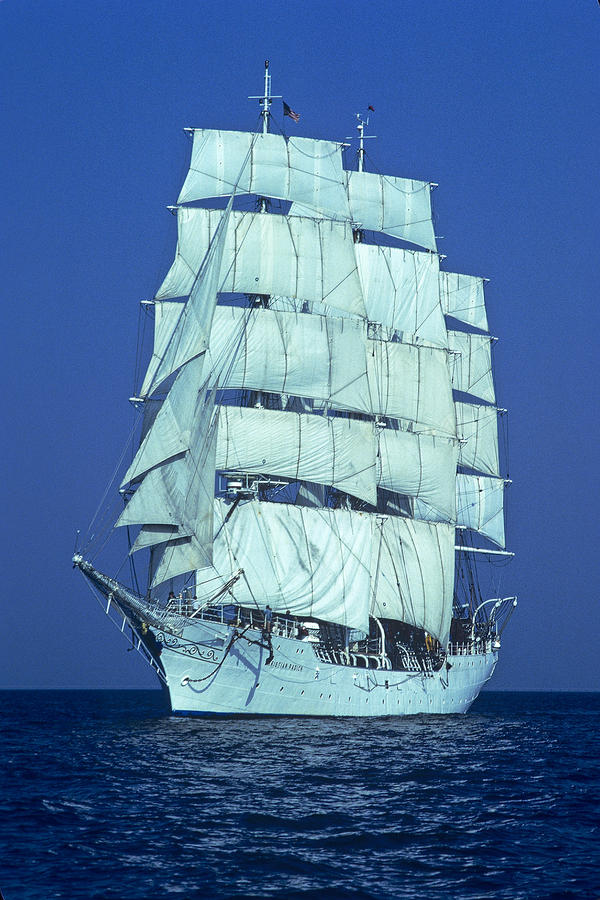 Tall Ship At Sea Photograph  - Tall Ship At Sea Fine Art Print