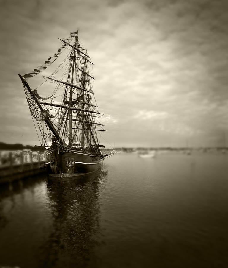 Tall Ship In Newport Photograph