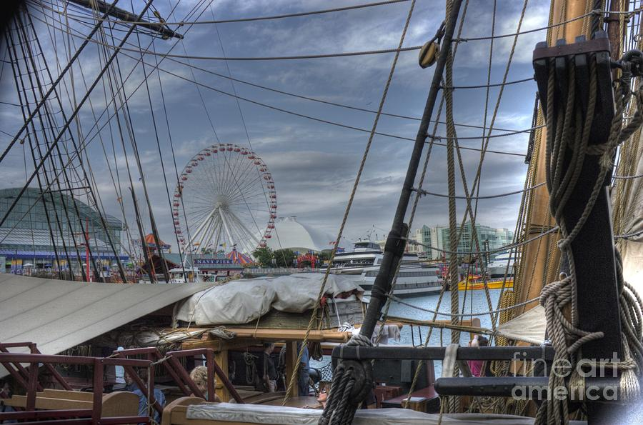 Tall Ships At Navy Pier Photograph  - Tall Ships At Navy Pier Fine Art Print