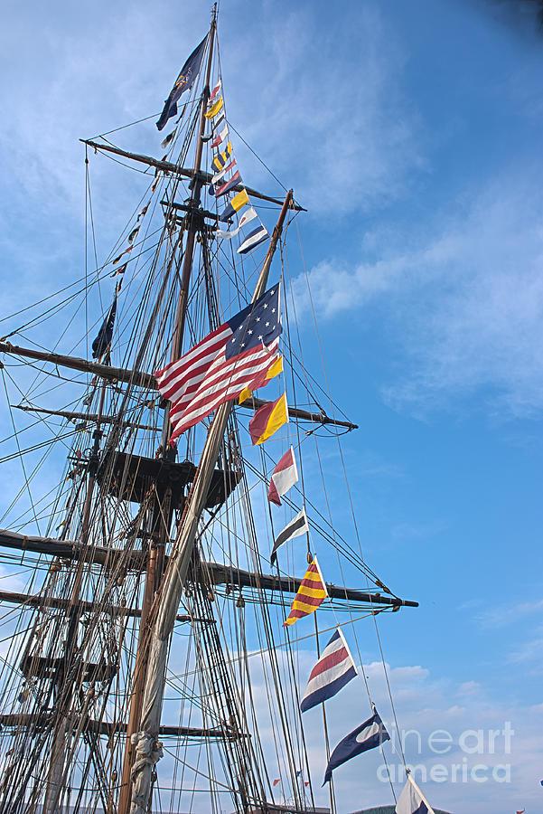 Tall Ships Photograph - Tall Ships Banners by David Bearden