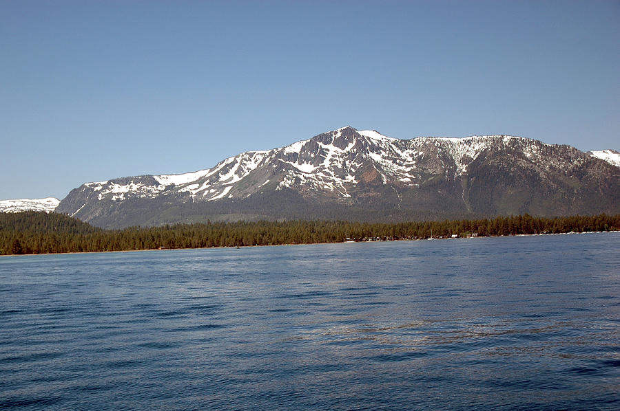 Tallac From The Lake Photograph