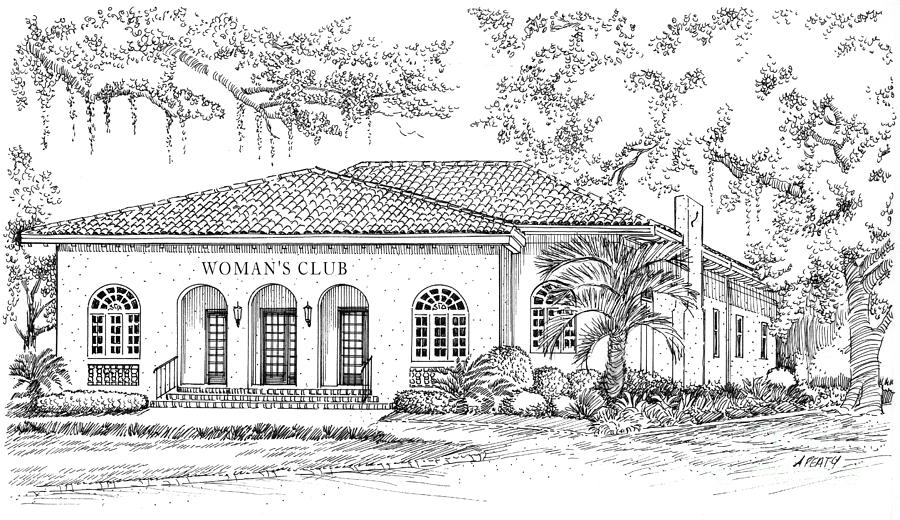 Tallahassee Womens Club Painting  - Tallahassee Womens Club Fine Art Print