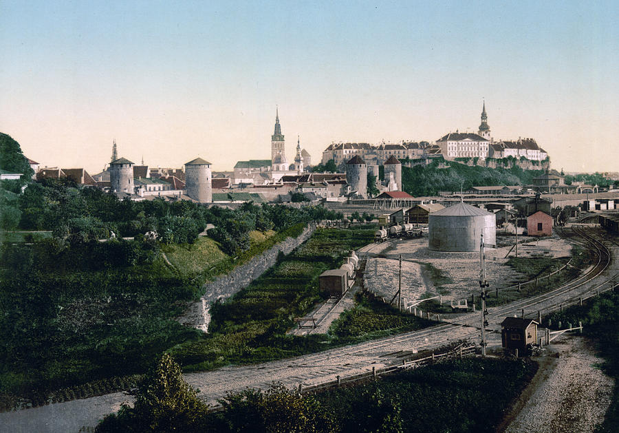Tallinn Estonia - Formerly Reval Russia Ca 1900 Photograph  - Tallinn Estonia - Formerly Reval Russia Ca 1900 Fine Art Print