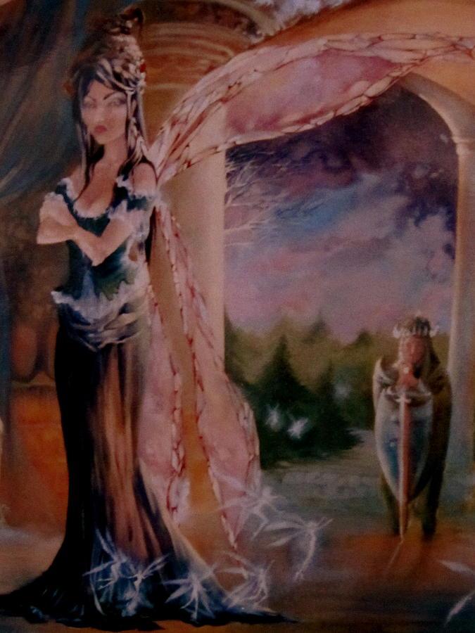 Tamlin Fairy Queen Poem Painting - Tamlin by Jackie Rock