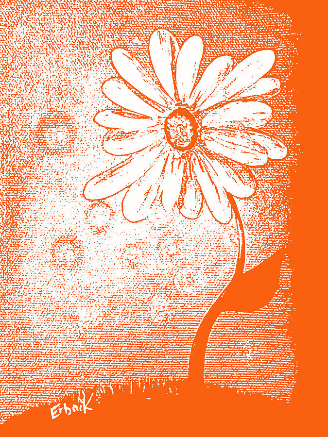 Daisies Painting - Tangerine Daisy By Shawna Erback by Shawna Erback