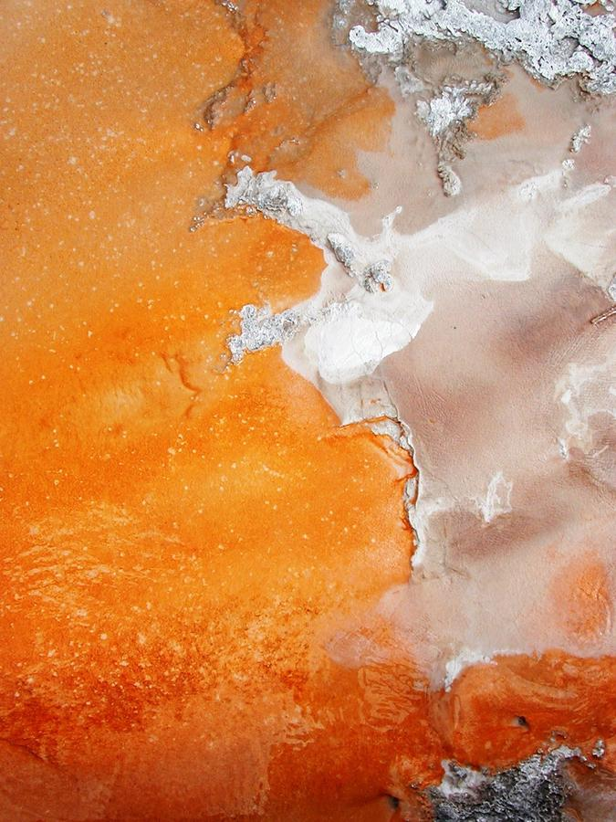 Tangerine Orange Geyser Pool Of Yellowstone Photograph
