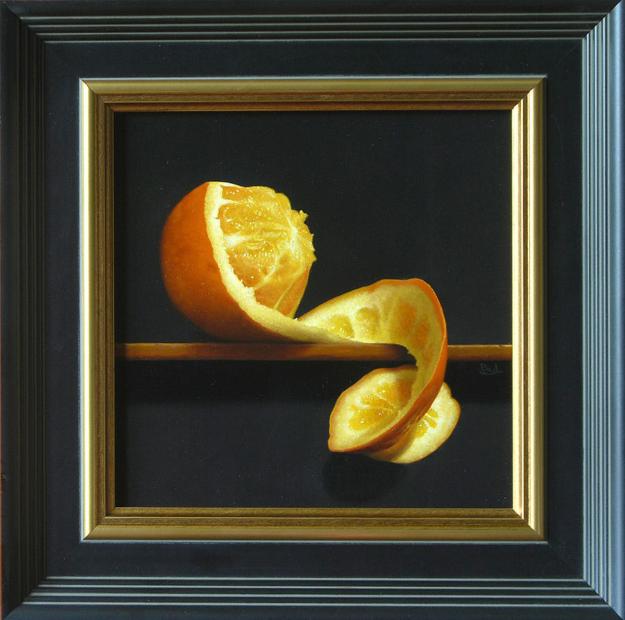 Tangerine Peeled Painting 