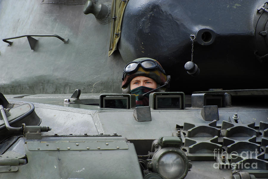 Tank Driver Of A Leopard 1a5 Mbt Photograph