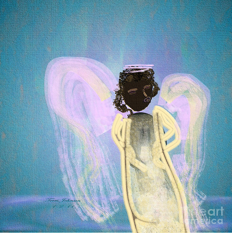 Tanzanian Angel Digital Art  - Tanzanian Angel Fine Art Print