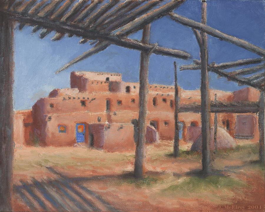 Taos Pueblo Painting