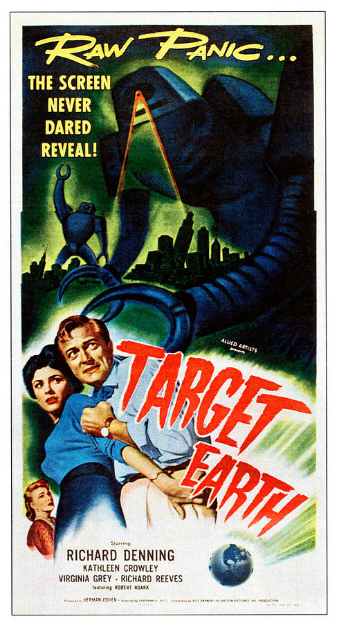 1950s Poster Art Photograph - Target Earth,  From Left Kathleen by Everett
