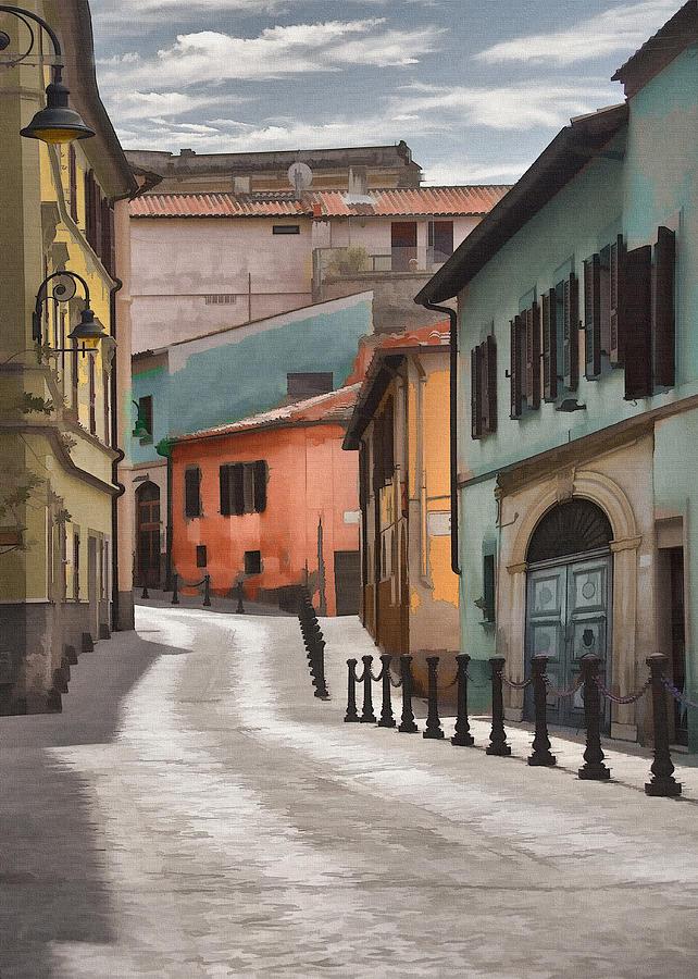 Tarquinia Street Digital Art