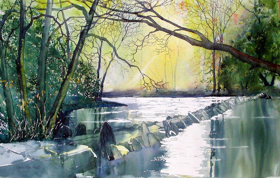 Tarr Steps Near Exmoor Painting