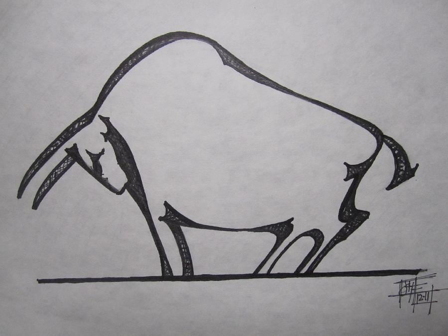 Taurus The Bull DrawingTaurus Bull Drawing