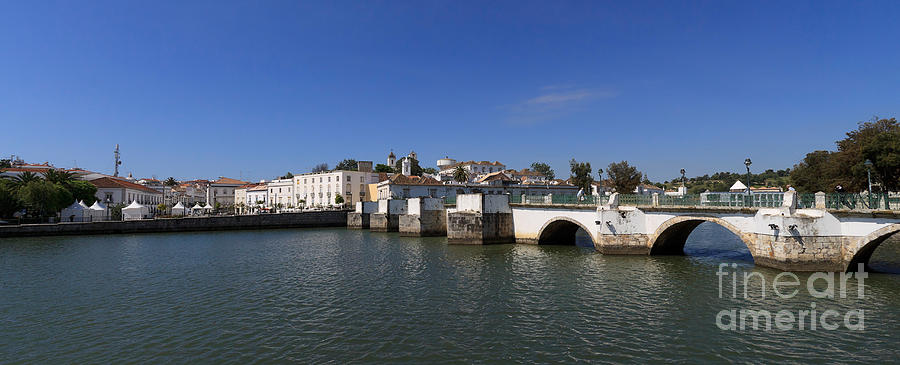 Tavira Ponte Romana And The River Photograph  - Tavira Ponte Romana And The River Fine Art Print