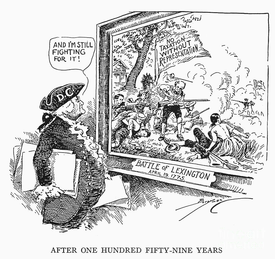 Taxation Cartoon, 1934 Photograph