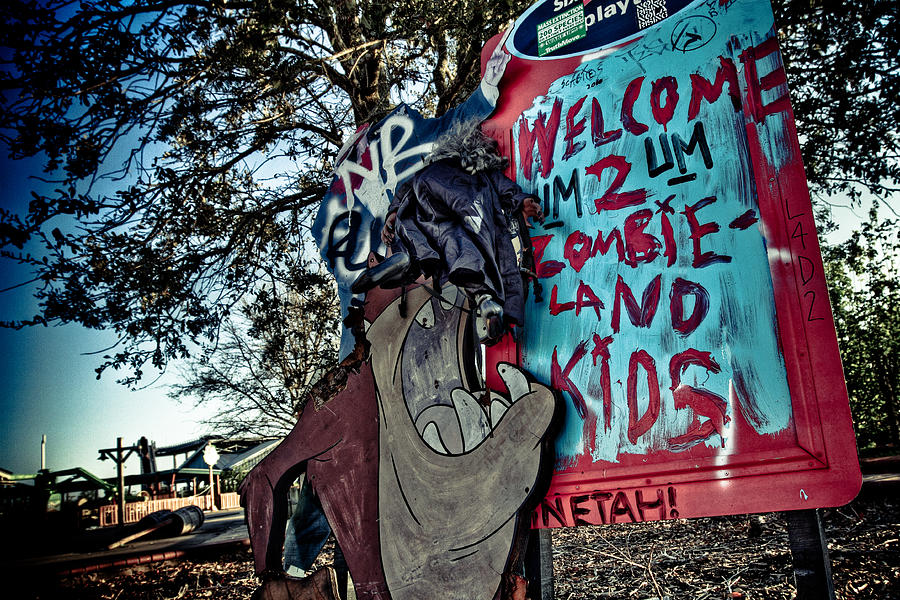 Taz Welcomes You To Zombie Land Photograph  - Taz Welcomes You To Zombie Land Fine Art Print