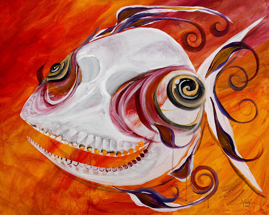 T.b. Chupacabra Fish Painting  - T.b. Chupacabra Fish Fine Art Print