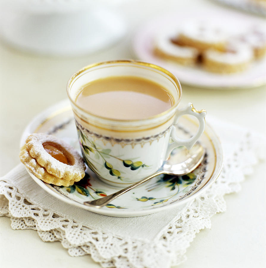 Biscuit Photograph - Tea And Biscuits by David Munns