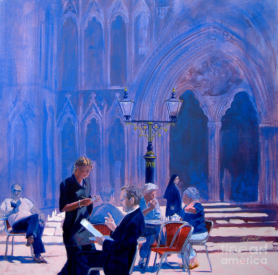 Tea At York Minster Painting  - Tea At York Minster Fine Art Print