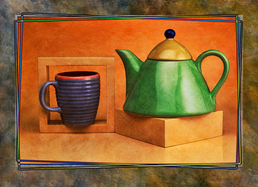 Tea  Pyrography  - Tea  Fine Art Print