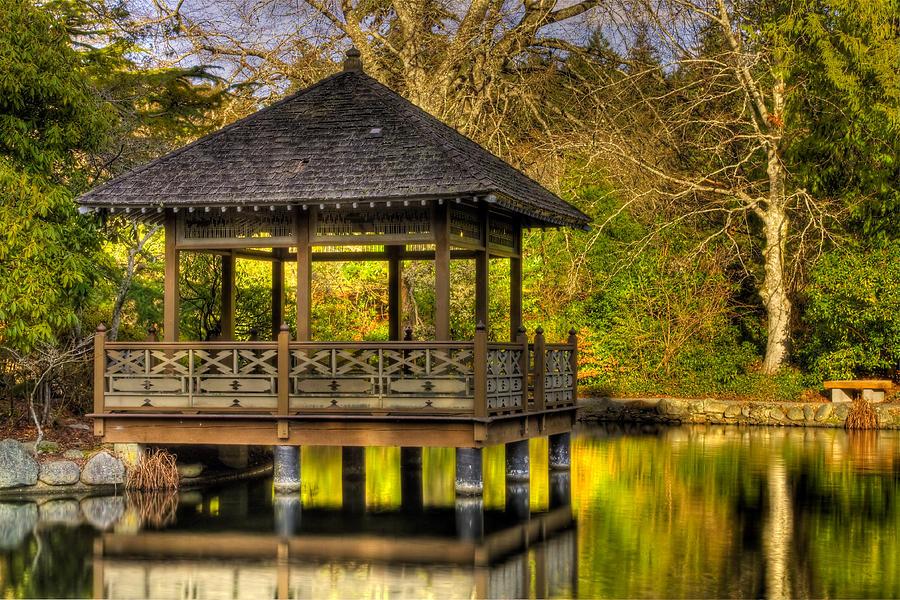 tea pavilion japanese gardens photograph by matt dobson