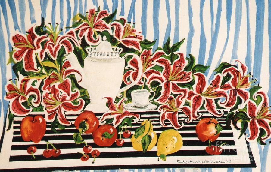 Tea Pot Painting - Tea Time by Patti McEntire