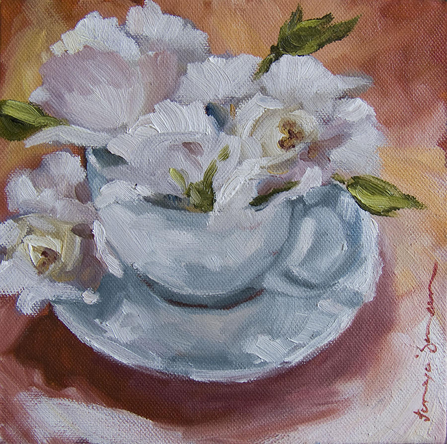 Teacup 4  Painting  - Teacup 4  Fine Art Print