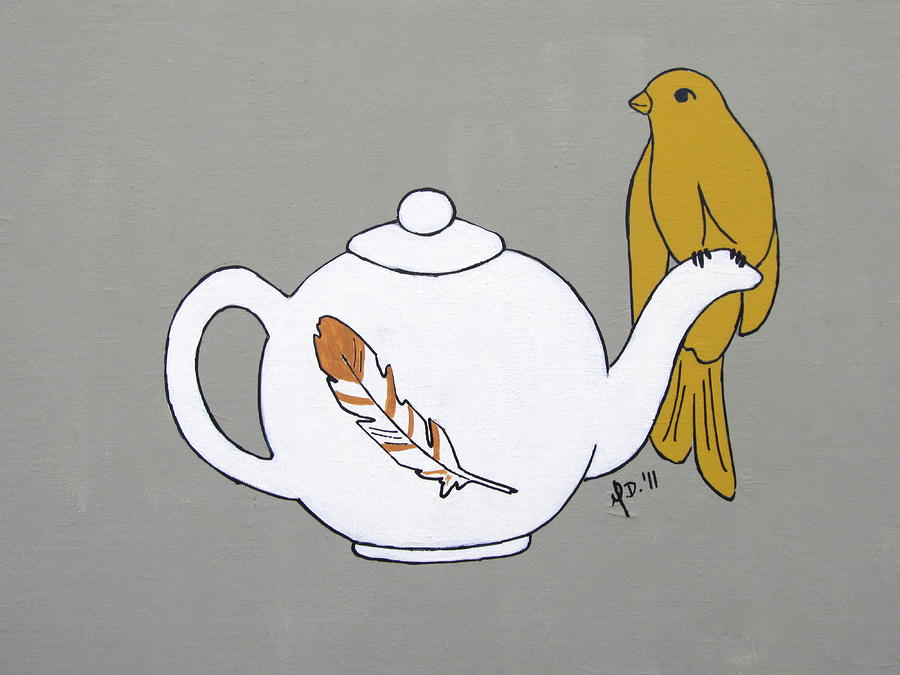 Teapot Perch Painting