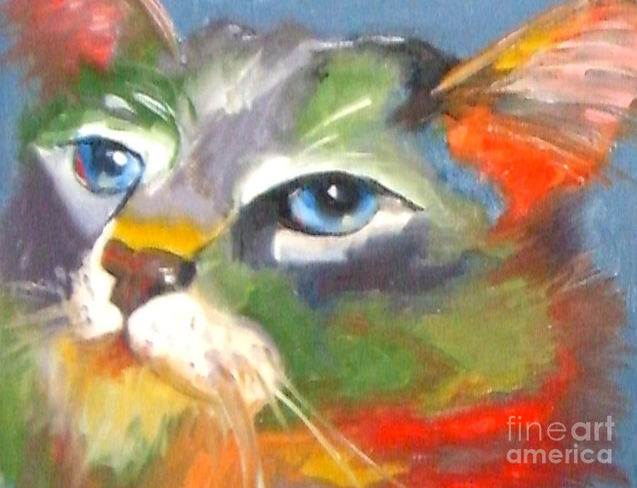 Technicolor Tabby Painting