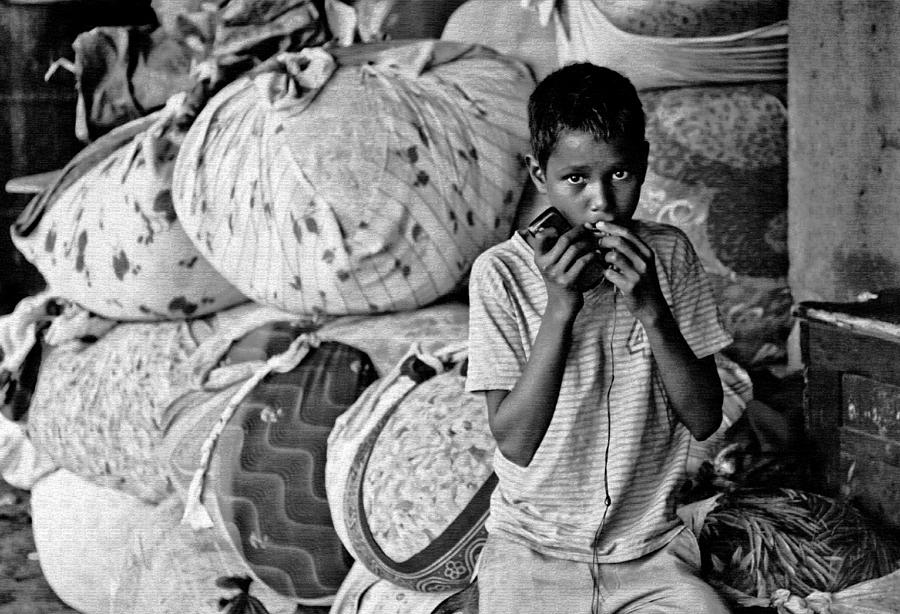 Male Photograph - Technology In Sweatshop by Kantilal Patel