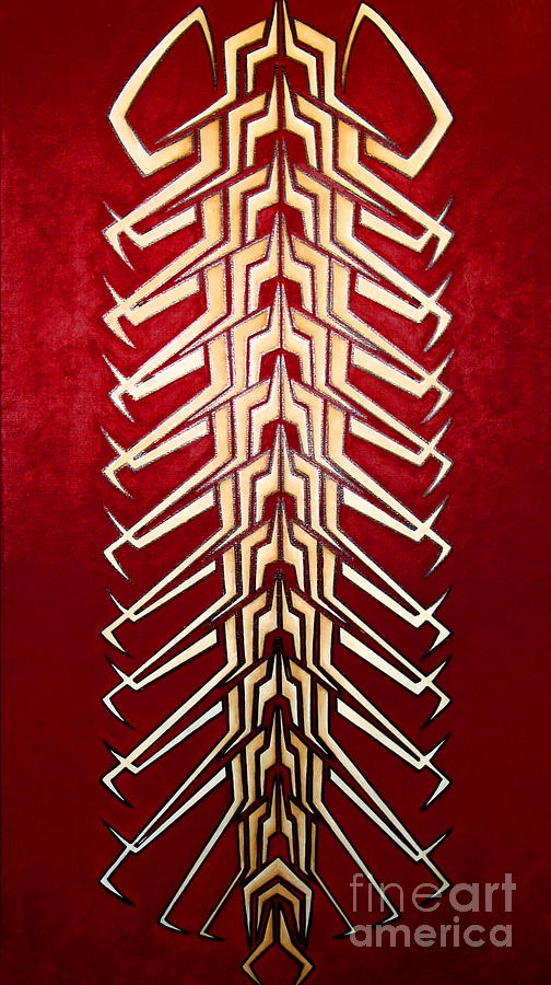 Technopede 3 Painting  - Technopede 3 Fine Art Print
