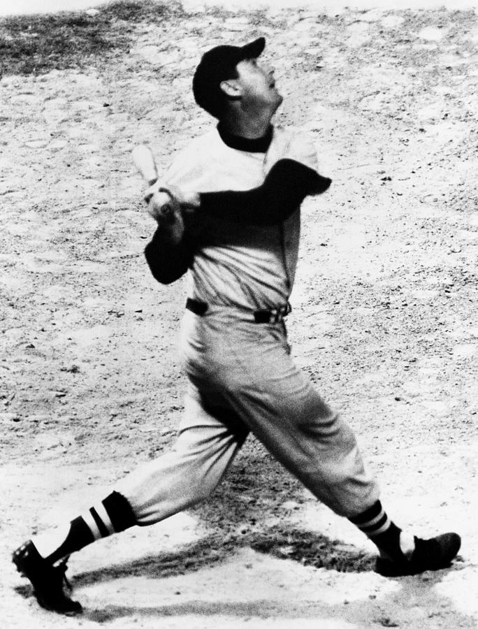 Ted Williams Of The Boston Red Sox, Aug Photograph  - Ted Williams Of The Boston Red Sox, Aug Fine Art Print