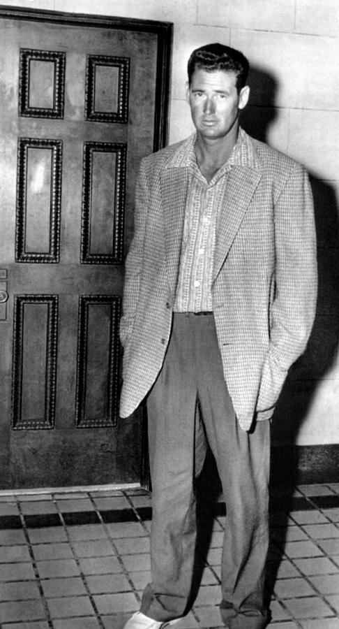 Ted Williams Outside A Miami Court Room Photograph  - Ted Williams Outside A Miami Court Room Fine Art Print