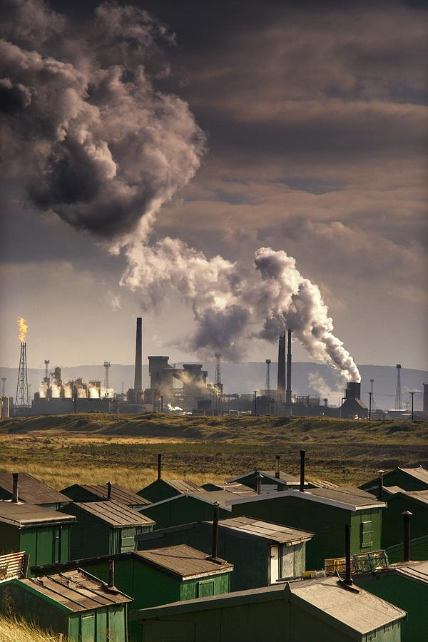 Pollution Photograph - Teesside Refinery, England by John Short