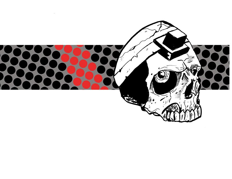 Teffillin Skull Digital Art
