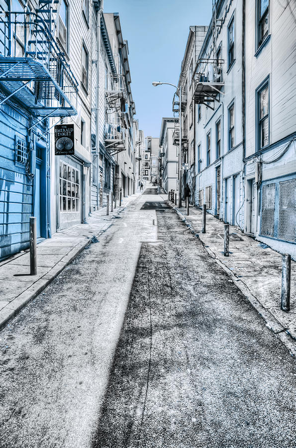 Telegraph Hill Blue Photograph  - Telegraph Hill Blue Fine Art Print