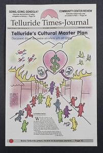 Telluride Times Journal Cover Art Drawing