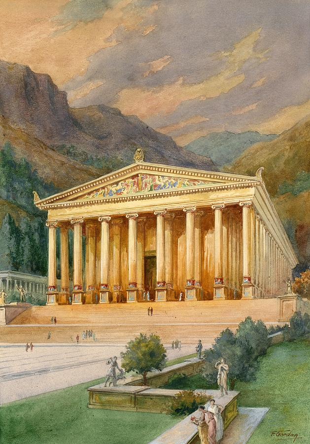 Temple Of Diana Painting