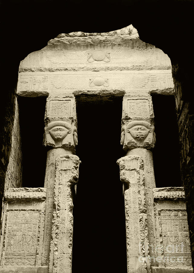 Temple Of Hathor Photograph  - Temple Of Hathor Fine Art Print