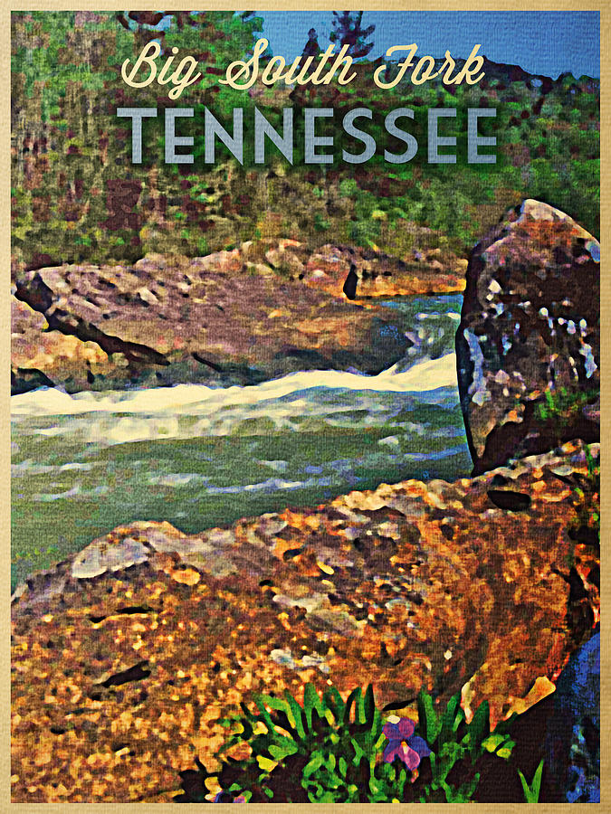 Tennessee Big South Fork Digital Art  - Tennessee Big South Fork Fine Art Print